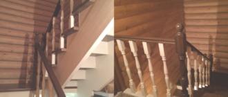 Фото деревянная лестница для дачи
