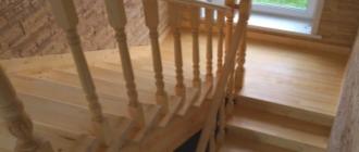 Фото лестница с поворотом на 180 градусов П-образная