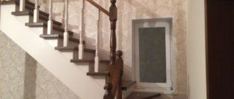 Фото Г-образная лестница на мансарду