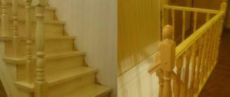 Фото прямой лестницы из дерева на второй этаж