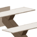 Металлическая лестница на центральном косоуре (монокосоур) с поворотом на 180 градусов с площадкой