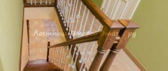 Прямая (одномаршевая) лестница из дуба