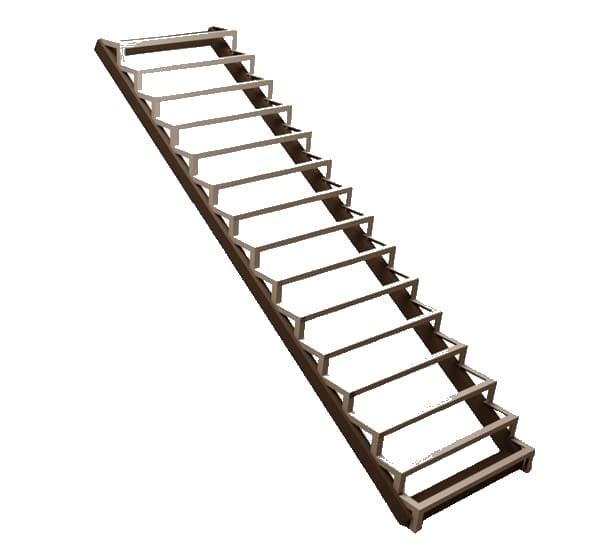 Одномаршевая закрытая металлическая лестница